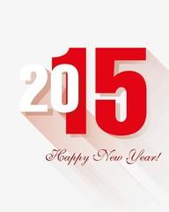 С Новым годом 2015 открытка,  креативный дизайн