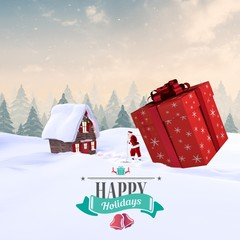 Composite image of christmas message