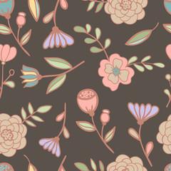 Seamless floral pattern Vector illustration.