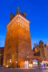 Tower of the medieval torture chamber in Gdansk, Poland.