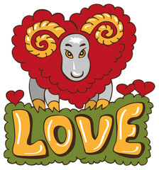 sheep from heart