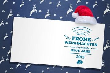 Composite image of german christmas greeting