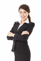 young beautiful asian business woman