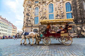 Horse carriages in Dresden, Germany