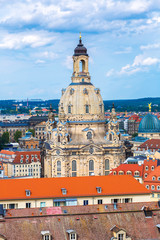 Dresden and Frauenkirche church