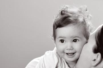 Happy baby smiles