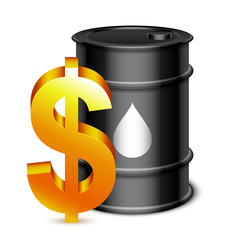 Oil Barrel and Dollar Sign