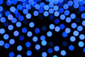 青色のイルミネーション