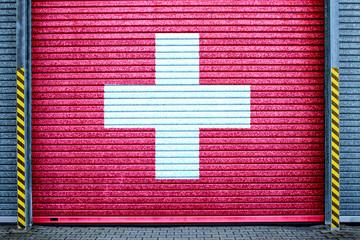 Schweiz verzinktes Stahltor (Swiss roll-up door)