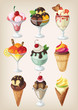 Set of colorful tasty isolated ice cream. - 75075741