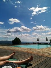 Tuscan pool and feet
