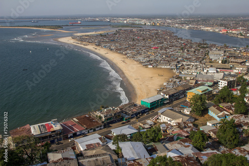 Papiers peints Pays d Afrique Armenviertel in der Hauptstadt von Liberia