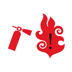 Fire extinguisher symbol vector