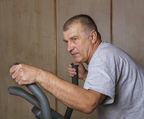 Muscular adult man.