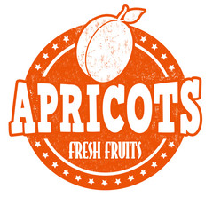 Apricots stamp