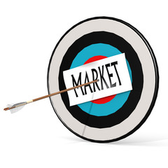 Arrow, market and board