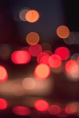 De-focused lights multicolored