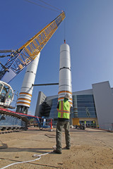 Construction of Structure with Crane