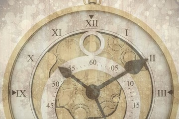 Composite image of beautiful clock