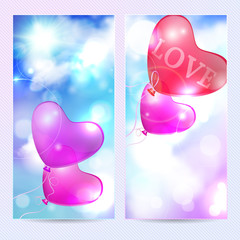 Romantic background, template happy valentine's day card