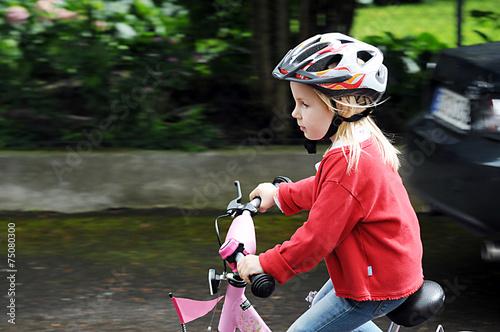 Leinwanddruck Bild Sicherheit für Kinder im Straßenverkehr