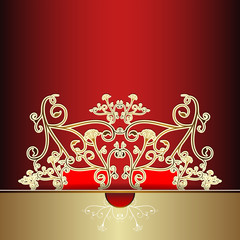 Luxury card with fantasy pattern.