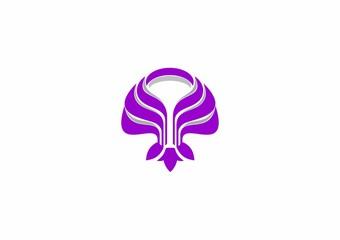 beauty lotus flower icon vector logo