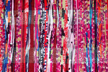 Colorful Fabric Background Pink Purple Blue Red Black White