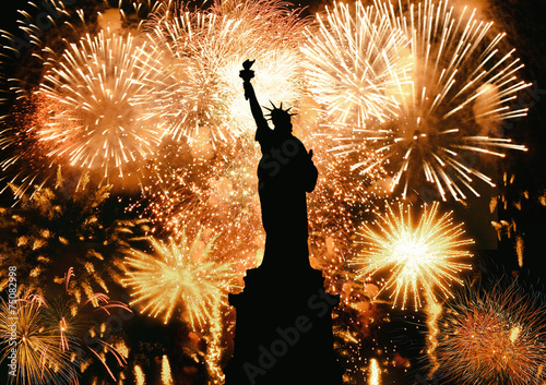Ano Novo Estátua da Liberdade - 75082998