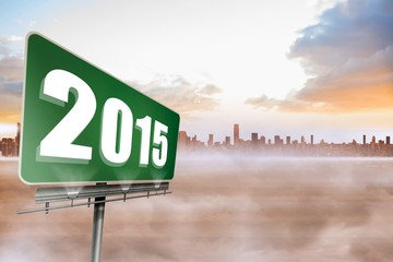 Composite image of 2015 in bold grey