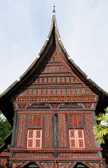 Indonesia traditional house on the West Sumatra island