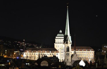 University of Zurich by night