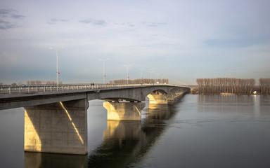 New bridge in Belgrade, Serbia - Pupinov most