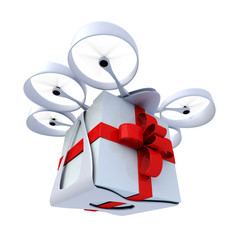 Drone flying present