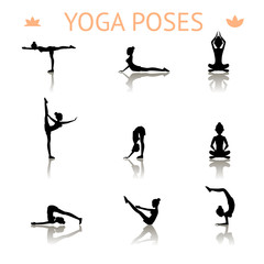 yoga silhouette poses