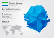 Sierra Leone world map with a pixel diamond texture.