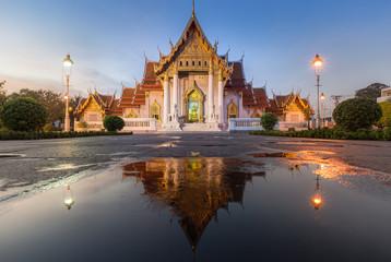 Beautiful Thai Temple Wat Benjamaborphit (Marble temple)