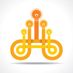 Business icon with hand light-bulb vector