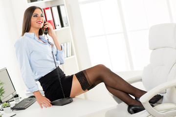 Sexy Businesswoman Phoning