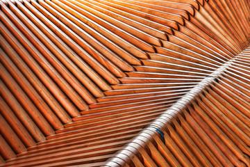 Abstrakcyjna drewniana konstrukcja