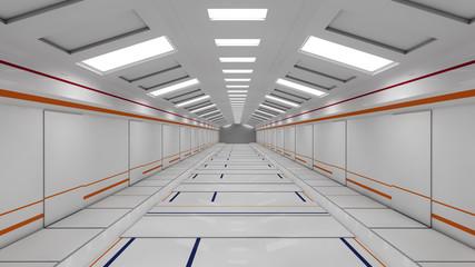 Futuristic SCIFI corridor
