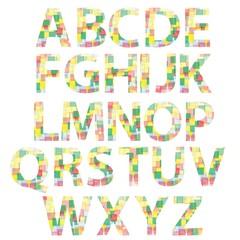 colored alphabet