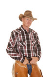 cowboy chaps hands belt looking poster