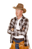 cowboy cross arms look side chaps poster