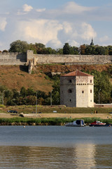 Nebojsa tower,part of Kalemegdan fortress in Belgrade,Serbia