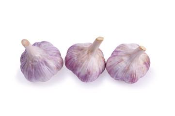 Garlic set isolated on white background