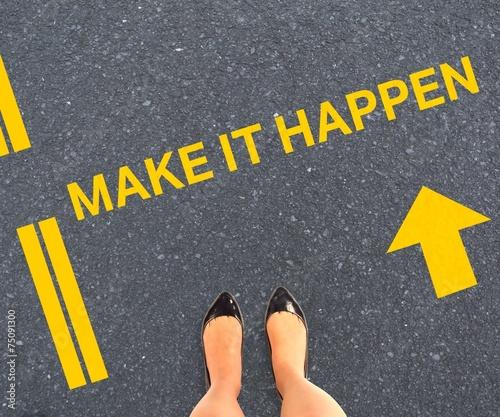 Composite image of businesswomans feet - 75091300