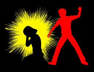Girl with Trauma through physical punishment