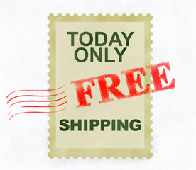 Only today free shipping post stamp