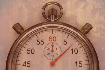 Composite image of stopwatch